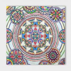 canvasdoek-Mandala-connected-100-x-100-achtergrond