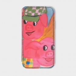 iPhone-4-hoesje-leer-Little-pigs